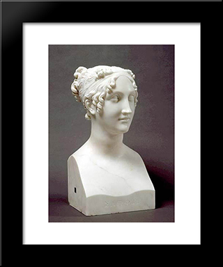 Sappho: Modern Black Framed Art Print by Antonio Canova