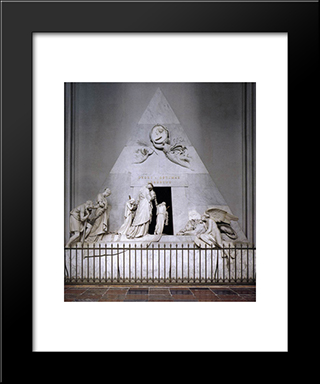 Tomb Of Duchess Maria Christina Of Saxony'Teschen: Modern Black Framed Art Print by Antonio Canova