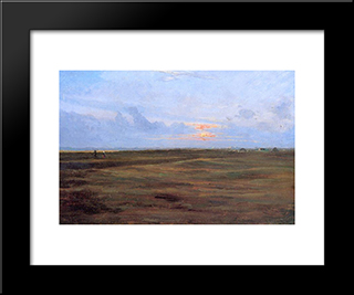 Marisma: Modern Black Framed Art Print by Peder Severin Kroyer
