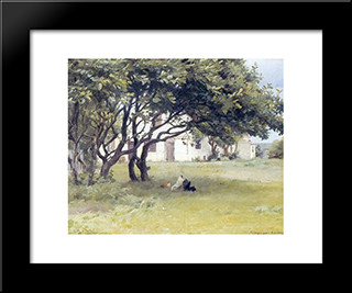 Casa De Los Art­stas: Custom Black Wood Framed Art Print by Peder Severin Kroyer