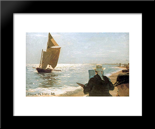 Pintores En La Playa: Modern Black Framed Art Print by Peder Severin Kroyer