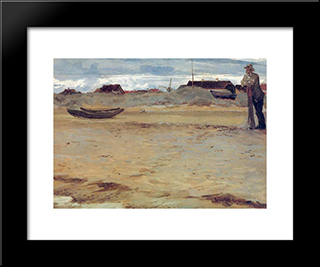 Skagen: Modern Black Framed Art Print by Peder Severin Kroyer