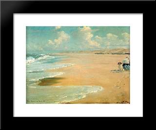 Stenbjerg: Modern Black Framed Art Print by Peder Severin Kroyer