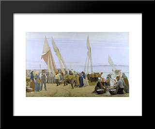 Manana En Hornbaek: Modern Black Framed Art Print by Peder Severin Kroyer