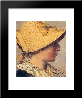 Anna Ancher: Modern Black Framed Art Print by Peder Severin Kroyer