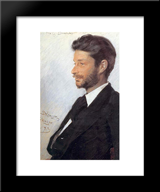 Georg Brandes: Modern Black Framed Art Print by Peder Severin Kroyer