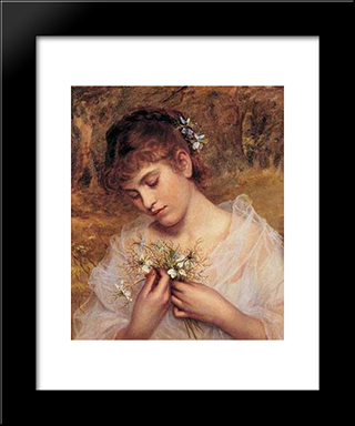 Love In A Mist: Modern Black Framed Art Print by Sophie Gengembre Anderson