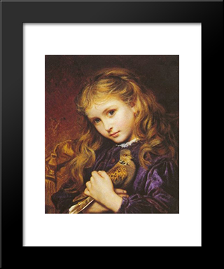 The Turtle Dove: Modern Black Framed Art Print by Sophie Gengembre Anderson
