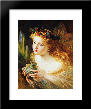 Take The Fair Face Of Woman: Modern Black Framed Art Print by Sophie Gengembre Anderson