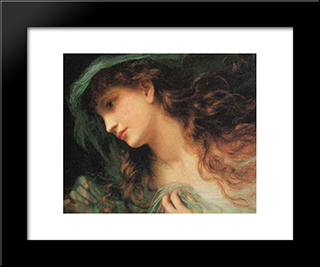 The Head Of A Nymph: Modern Black Framed Art Print by Sophie Gengembre Anderson