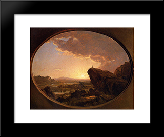 Moses Viewing The Promised Land: Modern Black Framed Art Print by Frederic Edwin Church