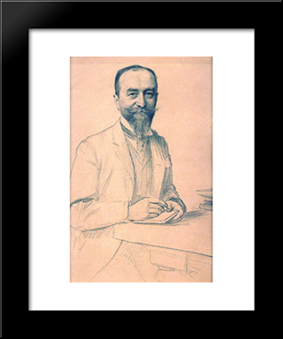 Unknown: Modern Black Framed Art Print by Emile Friant