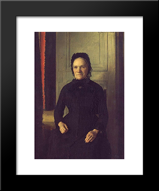 Madame Coquelin Mere: Modern Black Framed Art Print by Emile Friant