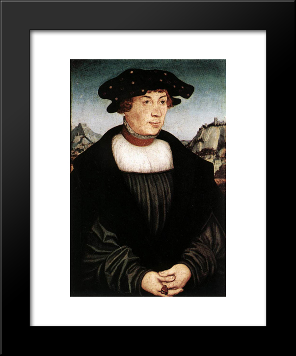 Hans Melber: Modern Black Framed Art Print by Lucas Cranach the Elder