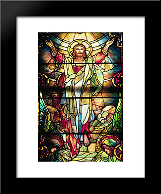 The Ascension: Modern Black Framed Art Print by Louis Comfort Tiffany