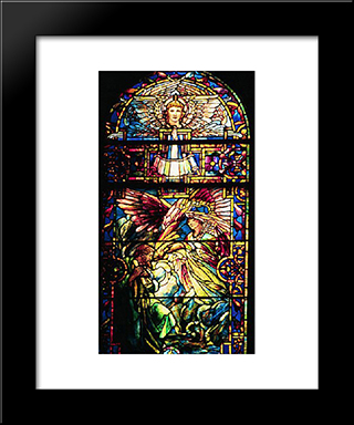 The Call Of Isaiah: Modern Black Framed Art Print by Louis Comfort Tiffany