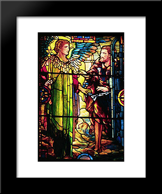 The Release Of Peter: Modern Black Framed Art Print by Louis Comfort Tiffany