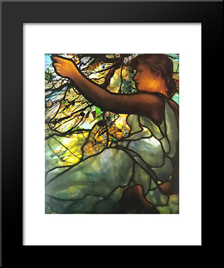 Tiffany Electrified Window Box: Spring: Modern Black Framed Art Print by Louis Comfort Tiffany