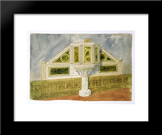 Design For A Marble Pulpit: Modern Black Framed Art Print by Louis Comfort Tiffany