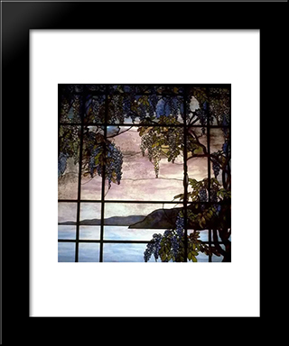 View Of Oyster Bay: Modern Black Framed Art Print by Louis Comfort Tiffany