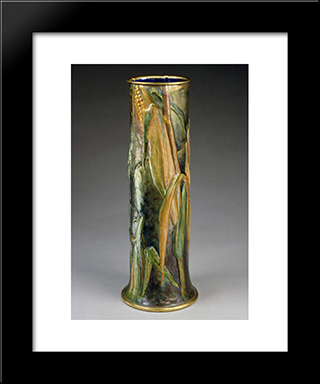 Vase: Modern Black Framed Art Print by Louis Comfort Tiffany
