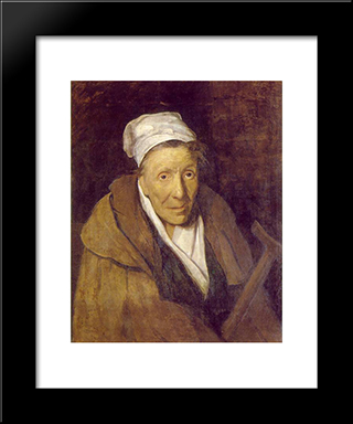 Woman With Gambling Mania: Modern Black Framed Art Print by Theodore Gericault