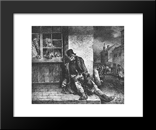 English Scenes ' Man On The Street: Modern Black Framed Art Print by Theodore Gericault