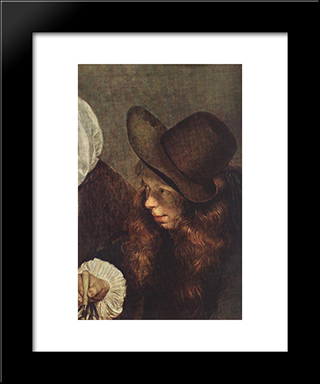 The Glass Of Lemonade (Detail): Modern Black Framed Art Print by Gerard Terborch
