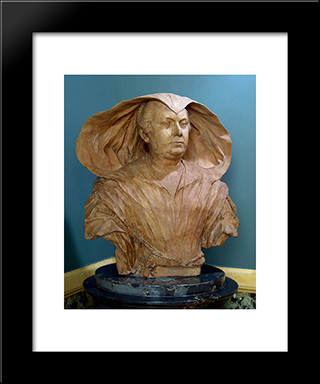 Portrait Of Olimpia Pamphilj: Modern Black Framed Art Print by Alessandro Algardi