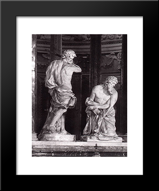 Beheading Of St Paul: Modern Black Framed Art Print by Alessandro Algardi