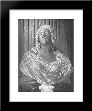 St Mary Magdalene: Modern Black Framed Art Print by Alessandro Algardi