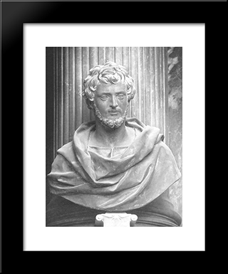 St John The Evangelist: Modern Black Framed Art Print by Alessandro Algardi