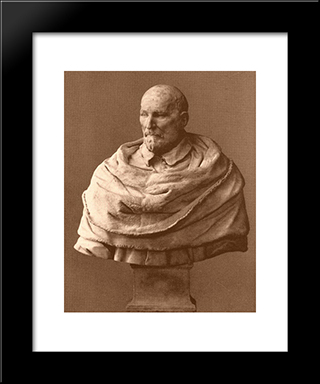 Laudivio Zacchia: Modern Black Framed Art Print by Alessandro Algardi
