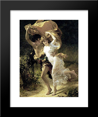 The Storm: Modern Black Framed Art Print by Pierre Auguste Cot
