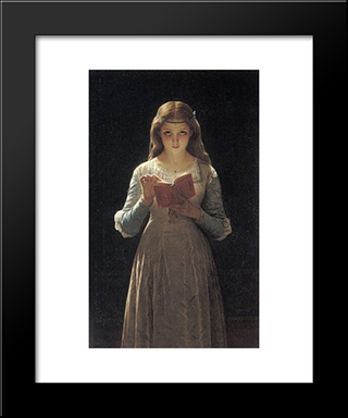 Pause For Thought: Modern Black Framed Art Print by Pierre Auguste Cot