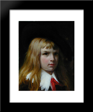 Little Lord Fauntelroy: Modern Black Framed Art Print by Pierre Auguste Cot