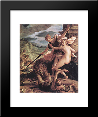 Allegory: Modern Black Framed Art Print by Hans von Aachen
