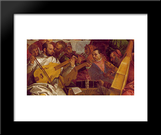 The Marriage At Cana [Detail: 2]: Modern Black Framed Art Print by Paolo Veronese