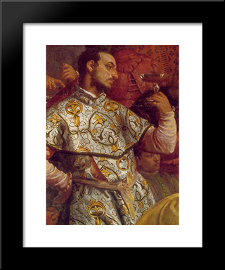 The Marriage At Cana [Detail: 3]: Modern Black Framed Art Print by Paolo Veronese