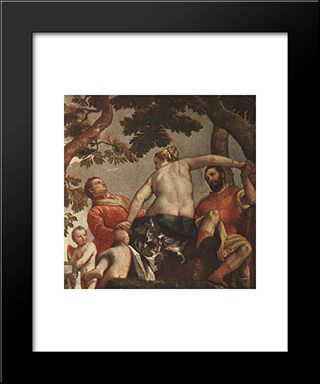 The Allegory Of Love: Unfaithfulness: Modern Black Framed Art Print by Paolo Veronese