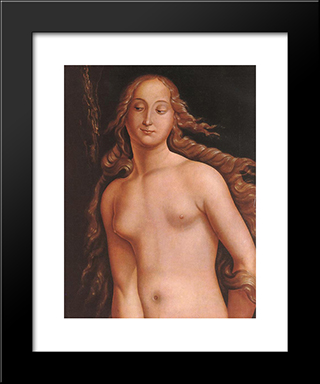 Eve (Detail): Modern Black Framed Art Print by Hans Baldung