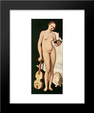 Music: Modern Black Framed Art Print by Hans Baldung