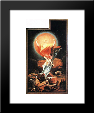 The Resurrection: Modern Black Framed Art Print by Matthias Grunewald