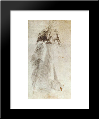 Unfinished Study: Modern Black Framed Art Print by Matthias Grunewald