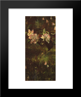 Apple Blossoms: Modern Black Framed Art Print by John LaFarge