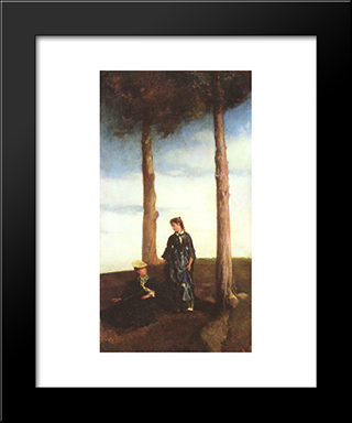 Hilltop: Modern Black Framed Art Print by John LaFarge