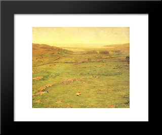 Paradise Valley: Modern Black Framed Art Print by John LaFarge