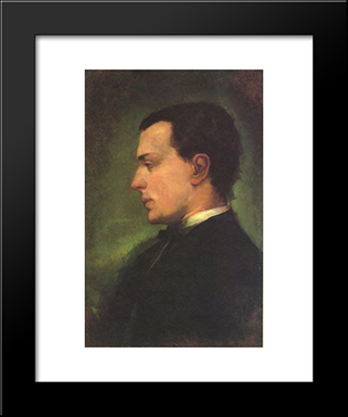 Portrait Of Henry James, The Novelist: Modern Black Framed Art Print by John LaFarge