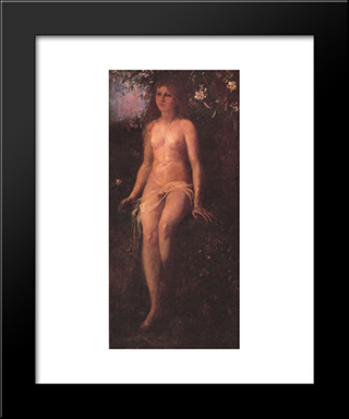 The Golden Age: Modern Black Framed Art Print by John LaFarge