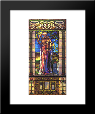 The Infant Bacchus: Modern Black Framed Art Print by John LaFarge